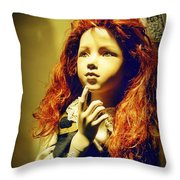 Pensive Mannequin Throw Pillow