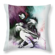 Pensive With Texture Throw Pillow