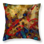 Penstemon Abstract 2 Throw Pillow