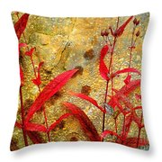 Penstemon Abstract 4 Throw Pillow
