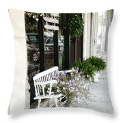 Pentunia Bench Throw Pillow