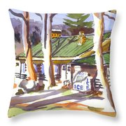 Penuel Lodge In Winter  Throw Pillow