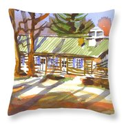 Penuel Lodge In Winter Sunlight Throw Pillow