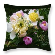 Peonies Bouquet Throw Pillow