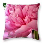 Peonies In The Pink Throw Pillow