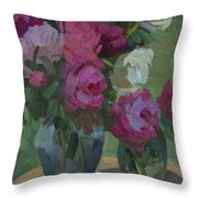 Peonies In The Shade Throw Pillow
