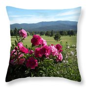 Peonies Please Throw Pillow