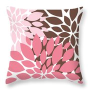 Peony Flowers 009 Throw Pillow