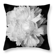 Peony In Bw Throw Pillow