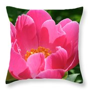 Peony Perfection Throw Pillow