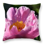 Peony Pink Throw Pillow