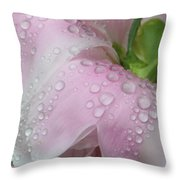 Peony Tears Throw Pillow