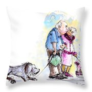 People And Their Dogs 02 Throw Pillow