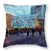 People As A Painting Throw Pillow