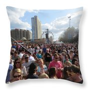 People As Far As The Eye Can See Throw Pillow