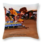 People At County Fair Throw Pillow