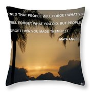 People Feel Throw Pillow