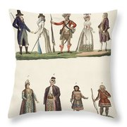 People From Europe Throw Pillow