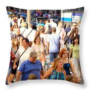 People In New York Throw Pillow
