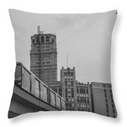 People Mover Downtown Detroit Throw Pillow