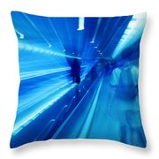 People Rush In Subway. Throw Pillow