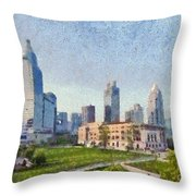 People Square In Shanghai Throw Pillow