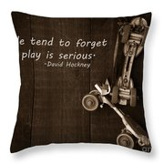 People Tend To Forget That Play Is Serious Throw Pillow by Edward Fielding
