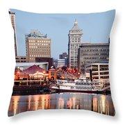 Peoria Illinois Skyline Throw Pillow