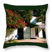 Pepes In Key West Florida Throw Pillow by Susanne Van Hulst