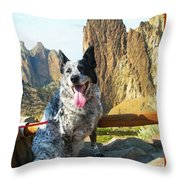 Pepper At Smith Rock Throw Pillow