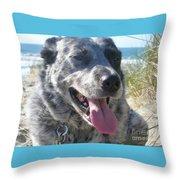 Pepper At The Beach Throw Pillow
