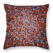 Peppered Diamond Throw Pillow