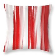 Peppermint Stick Abstract Throw Pillow