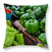 Peppers From The Farm Nj Throw Pillow