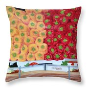 Peppers Red And Yellow Throw Pillow