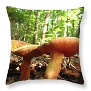 Peppery Bolete Throw Pillow