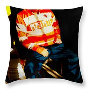 Pepsi Pete In Repose Throw Pillow