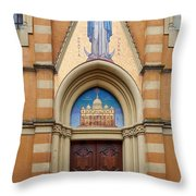 Per Mariam Ad Jesum. Palazzolo Throw Pillow