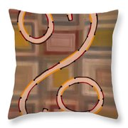 Percentages Throw Pillow