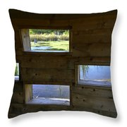 Perch Pond Blind Throw Pillow