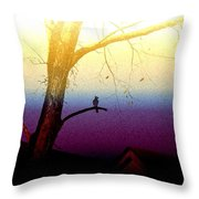 Perched On A Branch Throw Pillow