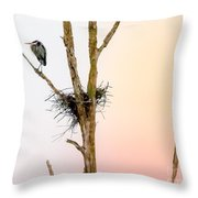 Perched Up High Throw Pillow