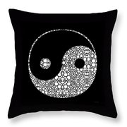 Perfect Balance 2 - Yin And Yang Stone Rock'd Art By Sharon Cummings Throw Pillow