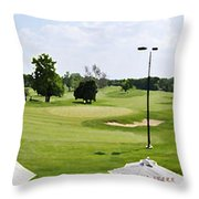 Perfect Day For Golf Throw Pillow