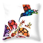 Perfect Harmony - Nature's Sharing Art Throw Pillow