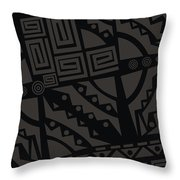 Perfect Imperfections II - Charcoal Infusion Throw Pillow