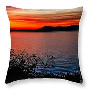 Perfect Marine Sunset Throw Pillow