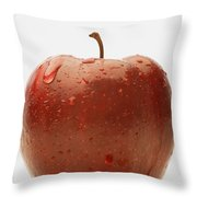 Perfect Red Apple Throw Pillow