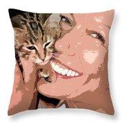 Perfect Smile Throw Pillow