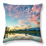 Perfect Sunset Clouds Throw Pillow